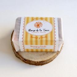 Jabón artesano de naranja y...