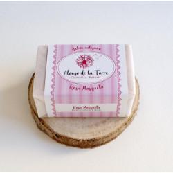 Jabón artesano de rosa...
