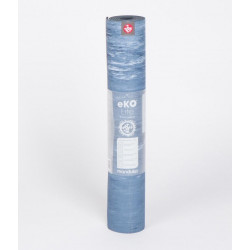 eKO® Lite Yoga Mat 4mm - ebb marbled (blue)