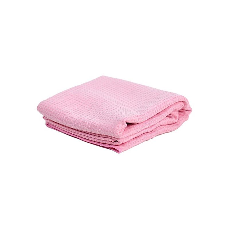 Toalla Yoga Antideslizante Rosa - silicona