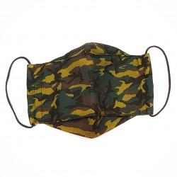 Mascarilla de Tela de Algodón Camuflaje Verde