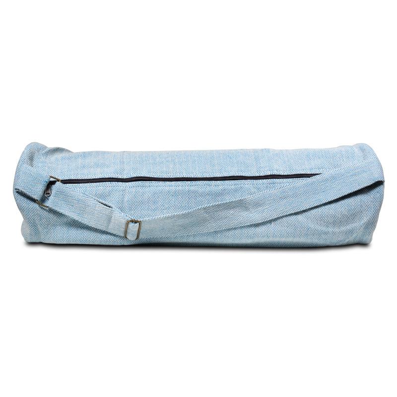 Bolsa de yoga de algodón turquesa