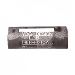 Toalla de manos, Mandala Negra- Yoga Design -