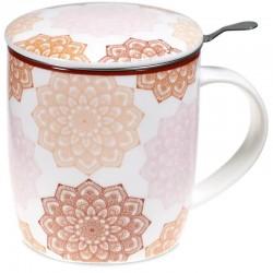 Taza de Té Mandala Rosa