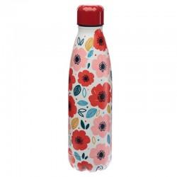 Botella Térmica de Acero Inoxidable - Amapolas - 500ml