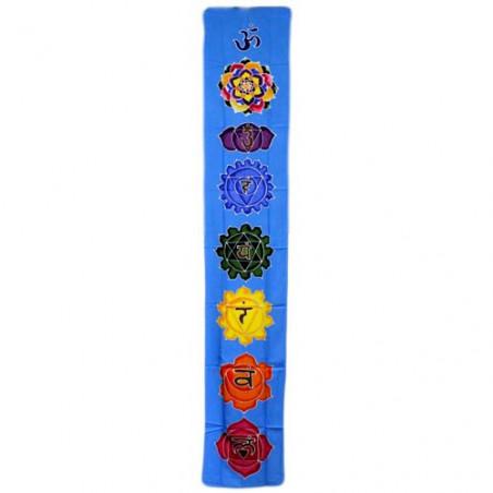 Banner vertical Chakra - celeste