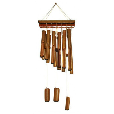 Movil Sinfónico de Bambú 12 tubos